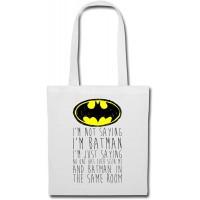 DC Comics I'm Batman Lustiger Spruch Stoffbeutel Weiß Schuhe & Handtaschen