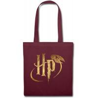 Harry Potter Logo HP Stoffbeutel Burgunderrot Schuhe & Handtaschen