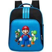 Super Mario Daypacks Exquisite Rucksack Grundschule Tasche für Mädchen Jungen Cartoon Muster Reise Sporttasche Color Blue01 Size 32 X 14 X 40cm Koffer Rucksäcke & Taschen