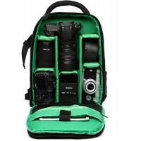 MNSYD Regensicherer Kamera-Rucksack Professionelle DSLR-Tasche Fotografie Laptop-Rucksack für spiegellose Spiegelreflexkamera Grün Kamera