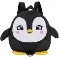 Minsa 1 x Kinder-Rucksack Anti-Verlust-Kinder-Schultasche Cartoon-Pinguin-Rucksack Schultertasche für Babys Jungen Mädchen Schwarz Schwarz - RWU54100758 Koffer Rucksäcke & Taschen