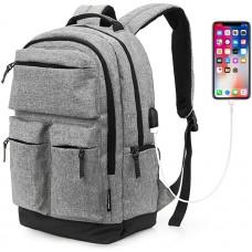 KINGSLONG Laptop Rucksack Herren 15.6 Zoll Laptop-Taschen Schulrucksack Business Rucksäcke mit USB Ladeanschluss Camping Zubehör für Arbeit Wandern Reisen Camping Koffer Rucksäcke & Taschen