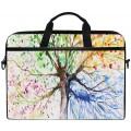 Handbemalte Laptop-Umhängetasche mit Baum-Motiv für Damen und Herren tragbare Tragetasche für Notebook und Tablet Koffer Rucksäcke & Taschen