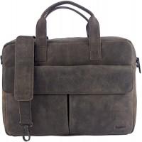 Sunsa Herren Leder 14 Zoll Laptop Tasche Business Koffer Rucksäcke & Taschen