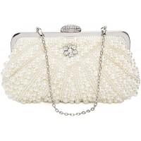 BAIGIO Damen Clutch Perlen Strass Abendtasche Vintage Handtasche für Hochzeit Party Bankett Schuhe & Handtaschen