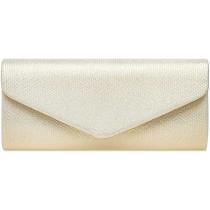 Caspar TA522 elegante Damen Snake Skin Glanz Clutch Abendtasche Farbeperlmutt GrößeEinheitlich Schuhe & Handtaschen
