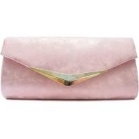 Vain Secrets Damen Umhänge Taschen Abendtasche Clutch in vielen Farben 25 cm Lang - 12 cm Hoch - 5 cm Breit Pink Schuhe & Handtaschen