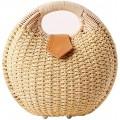 YAKEFJ Einkaufstasche Sommer Stroh Strandtasche Stroh Handtasche Gewebte Clutch Tasche Schuhe & Handtaschen