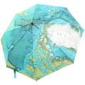 CHRISLZ Weltkarte Regenschirm Automatische Regenschirm Faltbar Sonnenschutz Regenschirm Winddichte Taschenschirm Koffer Rucksäcke & Taschen