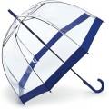 Fulton Damen Regenschirm - Blau - Navy Border - Einheitsgröße Koffer Rucksäcke & Taschen