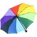 iX-brella extra Stabiler Regenschirm 10-teilig Auf-Zu-Automatik - Regenbogen bunt Koffer Rucksäcke & Taschen