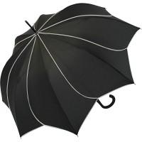 Pierre Cardin Stockschirm Damen groß stabil mit Automatik - Sunflower - schwarz Koffer Rucksäcke & Taschen