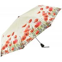 VON LILIENFELD Regenschirm Taschenschirm Mohnblumen Windfest Auf-Automatik Leicht Stabil Kompakt Blüten Koffer Rucksäcke & Taschen