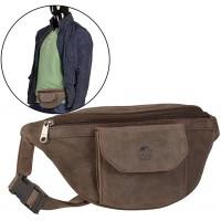 Bauchtasche Leder braun Herren Damen Hüfttasche Hipbag antikbraun BEAR DESIGN Koffer Rucksäcke & Taschen