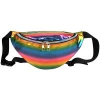 Faletony Hipster Laser PU-Leder Hüfttasche Bauchtasche Gürteltasche Rucksack Sling Bag für Herren Damen für Sport und Outdoor Aktivitäten Koffer Rucksäcke & Taschen