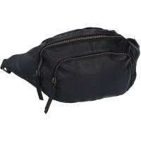Gusti Gürteltasche Leder - Sverre Bauchtasche Festivaltasche Hüfttasche Tasche Ledertasche Vintage Schwarz Koffer Rucksäcke & Taschen