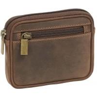 LEAS Gürtel- und Hüfttasche mit Gürtellasche Echt-Leder braun Vintage-Collection Koffer Rucksäcke & Taschen