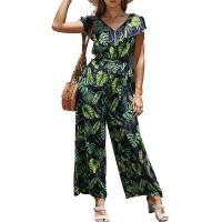 Latzhose Damen Summer Jumpsuits Morbuy Baumwolle Frauen Retro Lässig Jumpsuits Täglichen Playsuit Lange Casual Overalls Trousers Pants Hosen für Damen Bekleidung