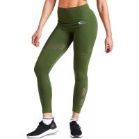 SMILODOX Sport Leggings Damen 'Atlanta' | Seamless - Figurformende Leggings für Sport Fitness Gym Yoga & Freizeit | Sporthose - Workout Trainingshose - Tights GrößeL FarbeOlive Bekleidung