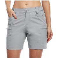 AFFGEQA Sommer Shorts Damen Hotpants Casual Mode Kurze Hosen Bequeme Hohe Taille Einfarbig Sportshorts Strandshorts Mit Taschen Bekleidung