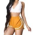 Deloito Damen Sommer Mode Lässig Bermuda Shorts Einfarbig Kurze Hosen Elastische Taille Sexy Schlanke Strand Hot Pants Bekleidung