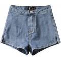 Luandge Damen Hohe Taille Skinny Sexy Denim Shorts Streetwear Mode Abnehmen Butt Lifting Washed Denim Pants Summer Bekleidung