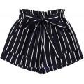 MakeMeChic Damen Plus Lose Elastische Taille Leopard Print Sommer Casual Strand Shorts - Schwarz - X-Large Mehr Bekleidung