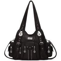 KL928 Damen Tasche Handtasche Schultertasche Umhängetaschen weiches PU leder Damenhandtasche Henkeltaschen Lederhandtasche Hobo taschen für Damen XS160199-black Schuhe & Handtaschen