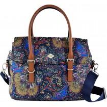 Oilily Damen Picnic Handbag Shz 1 Henkeltasche Blau nightblue Schuhe & Handtaschen