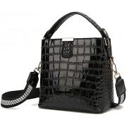 Tisdaini Damenhandtaschen Mode Schultertaschen Shopper Umhängetaschen Henkeltaschen DE906 Schwarz Schuhe & Handtaschen