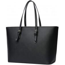 Vanessa & Melissa Damen Shopper klassisch Elegante Handtasche Henkeltasche Tasche Schwarz Schuhe & Handtaschen