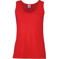 Fruit of the Loom Damen Tank Top Valueweight Vest Lady-Fit 61-376-0 Red S Bekleidung