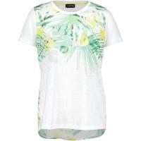 Taifun Damen T-Shirt mit exotischem Print figurumspielend Bekleidung