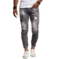 Leif Nelson Herren Jeans Hose Slim Fit Denim Blaue graue Lange Jeanshose für Männer Coole Jungen weiße Stretch Freizeithose Schwarze Cargo Chino Sommer Winter Basic LN9315 Bekleidung