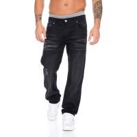Lorenzo Loren Herren Jeans Hose Straight-Cut Herrenhose blau LL-300 W29-W44 Bekleidung