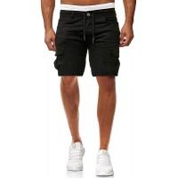 Herren Short Sommer Chino Cargo Jeans Hosen Stretch Sporthose Herren Hose mit Taschen Freizeithose Bekleidung