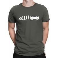 Evolution Kult Bus T-Shirt Bulli T1 Herren Fun-Shirt - 10 Farben Bekleidung