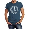 Neverless® Herren T-Shirt Anker Motiv maritim Retro Badge Vintage Anchor Print Bekleidung