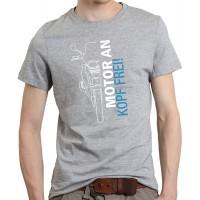 Unisex T-Shirt Motorrad lustiger Spruch Motor an - Kopf frei Schnabeltier Motorrad Bekleidung