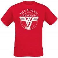 Van Halen 1979 Tour Männer T-Shirt rot Band-Merch Bands Bekleidung