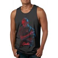 Coole Herren Sport Body Shaping Sommer Casual Soft Fashion Regelmäßige runde Kragen schnell trocknen atmungsaktive Tank Top Shirt Chris-Brown Bekleidung