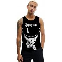 D.Gray-Man T-Shirt Männer Tank Top Sommer Hipster Weste luftiger weicher Strickjacke Freizeit ärmelloses atmungsaktives Kleidungsstück Unisex Color A03 Size XL Bekleidung
