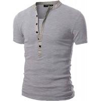 VEMOW Sommer Mode Persönlichkeit Camouflage Männer Täglich Cool Casual Schlank Kurzarm-Shirt Top Bluse Pullover Bekleidung