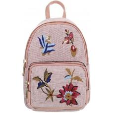 Ital Design KLEINE DAMEN RUCKSACK TEXTIL FREIZEITTASCHE ROSA Schuhe & Handtaschen