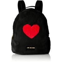 Love Moschino Damen Borsa Pin Grain Pu+poliestere Rucksackhandtasche Schwarz Nero Schuhe & Handtaschen