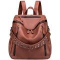 Tisdaini Damen Rucksackhandtaschen modische reise freizeit business Schultertaschen schulrucksack DE917 Braun Schuhe & Handtaschen