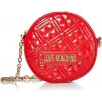 Love Moschino Damen BORSA QUILTED NAPPA PU Damentasche Rot Normale Schuhe & Handtaschen