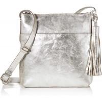 Clarks Damen Topsham Shine Umhängetasche Silber Silver Schuhe & Handtaschen