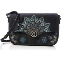 Desigual Womens Accessories PU ACROSS BODY BAG Green U Schuhe & Handtaschen