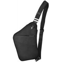 VBIGER Schultertasche Brusttasche Sling Crossbody Bag Daypack Anti-Diebstahl Umhängetasche für Herren und Damen Schwarz2 Schuhe & Handtaschen